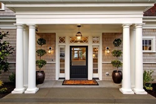 Front Elevation Pillar Design : DecoraÇÃo de porta entrada