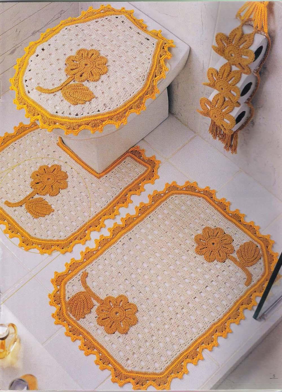 JOGO DE BANHEIRO DE BARBANTE PASSO A PASSO COM GRÁFICO -> Jogo De Banheiro Simples Oval Passo A Passo