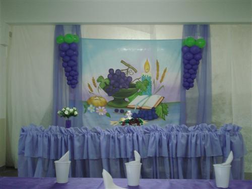 DECORA u00c7ÃO DE PRIMEIRA COMUNHÃO COM BAL u00d5ES -> Decoração Para Primeira Comunhão Na Igreja