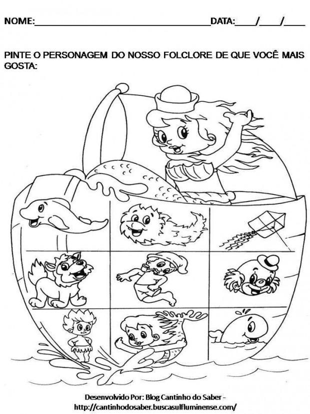 Suficiente ATIVIDADES SOBRE O DIA DO FOLCLORE PARA EDUCAÇÃO INFANTIL BE43