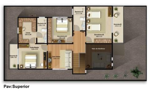 Plantas de casas com 3 quartos e 2 banheiros - Plantas para dormitorio ...