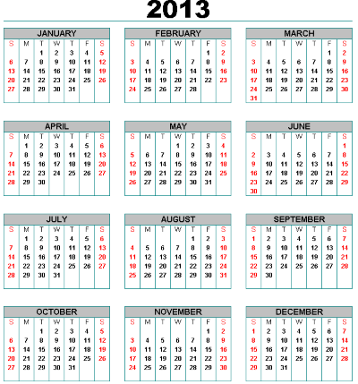 Calendario con foto 2013 para imprimir gratis 95