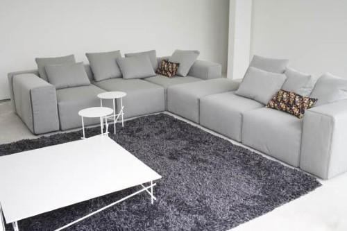 Sof s modernos de canto fotos e modelos for Sofas de sala modernos