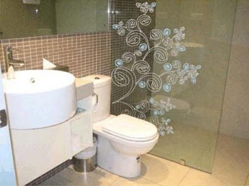 Box De Acrilico Para Banheiro Juiz De Fora : Fotos de boxe decorado com adesivo