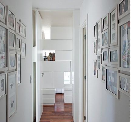 Decoração de foto no corredor Foto:Divulgação).