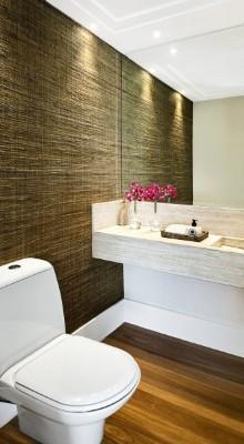 Papel de parede para banheiro  (Foto:Divulgação).