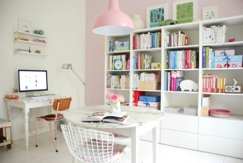 Escritório com cores decorativas  (Foto:Divulgação).