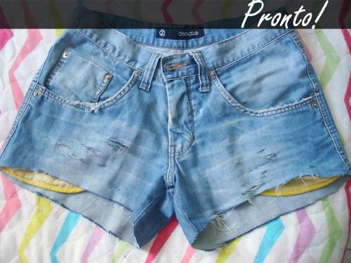 Como fazer shorts hot pants (Foto:divulgação).