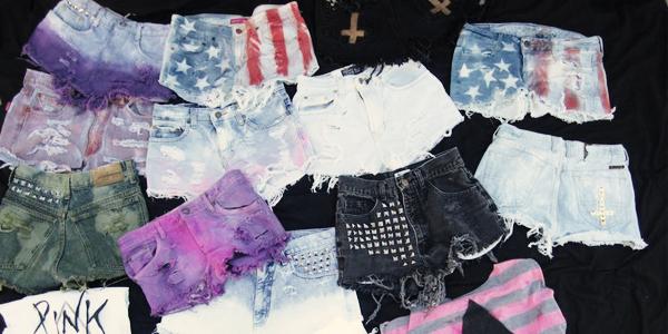 Como montar shorts customizados (Fotos: Divulgação).