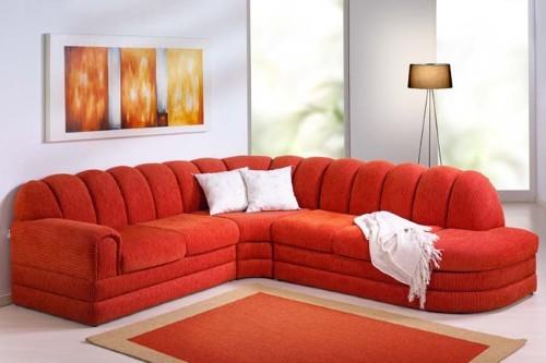 Salas decoradas com sof de canto - Modelos de sofas modernos ...
