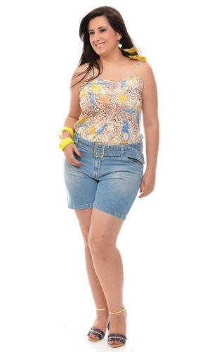 Tendências de Bermudas e Shorts Jeans Plus Size Verão 2013    8