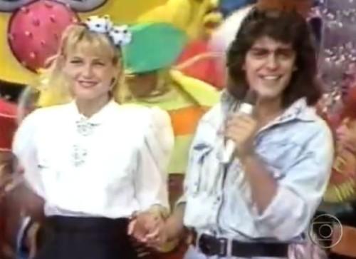 Xuxa e Junno nos anos 80(Foto:Divulgação)