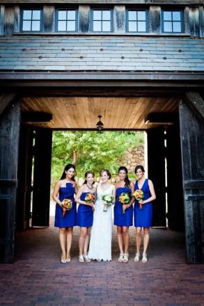 Madrinhas com vestidos azul royal (Foto:Divulgação)