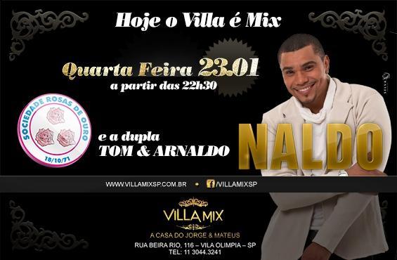 Naldo estará na Villa Mix na próxima semana. (Foto: Divulgação).