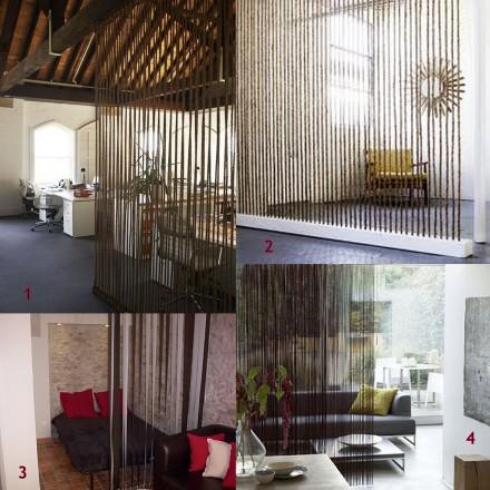 Dicas para separar ambientes em casa - Cortinas para separar ambientes ...
