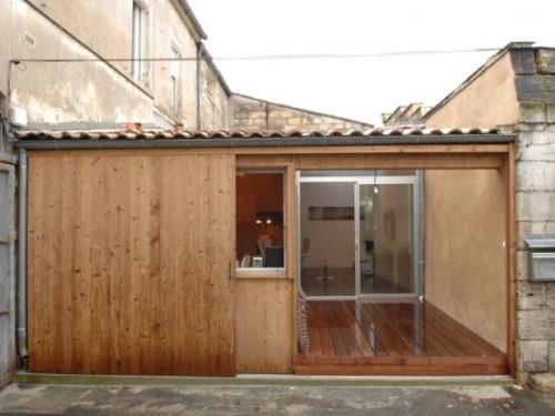 Madeira foram utilizadas para a fachada (Foto:Divulgação)