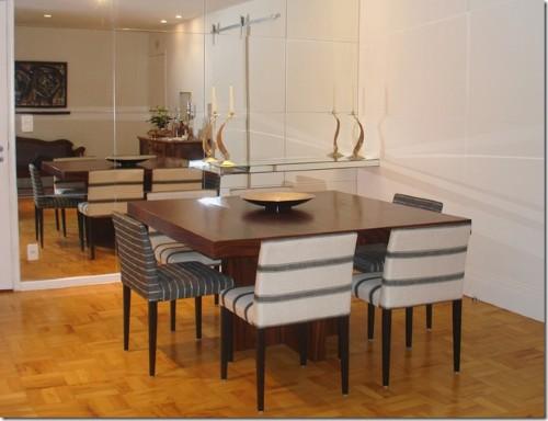 Sala de jantar com espelho (Foto:Divulgação)