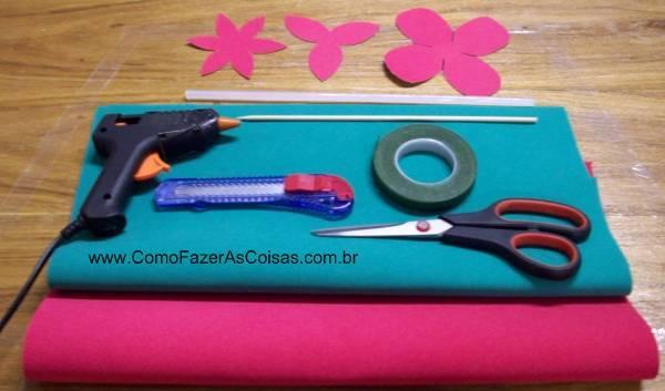 Materiais necessários. (Foto: www.comofazerascoisas.com.br).