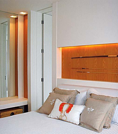 A iluminação de quartos de casal une elegância e funcionalidade. (Foto: Divulgação).