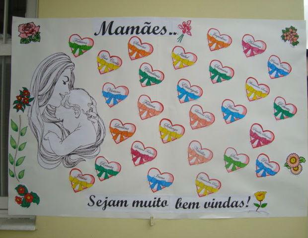 Decoração Para O Dia Das Mães Na Escola