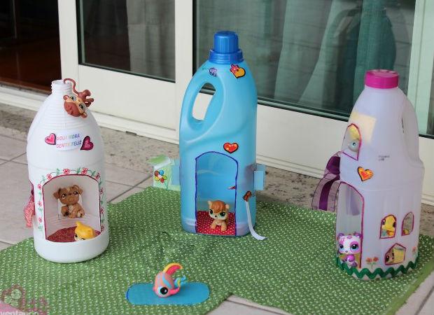 Como reciclar embalagens de amaciante for Reciclar cosas para decorar