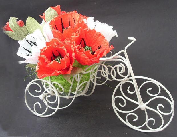 Artesanato Com Arame De Cobre ~ Bicicleta de arame para decoraç u00e3o passo a passo