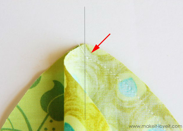 Peso de porta tartaruga de tecido passo 7