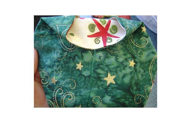 Enfeites de Natal em tecido passo 5