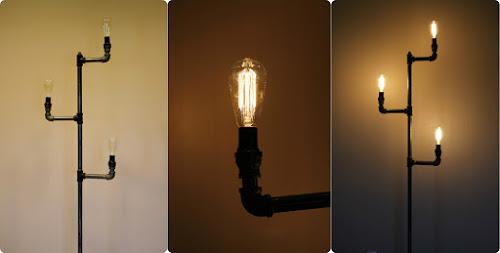 Luminária com cano galvanizado tem visual rústico, mas diferencia os seus espaços (Foto: howaboutorange.blogspot.com.br)