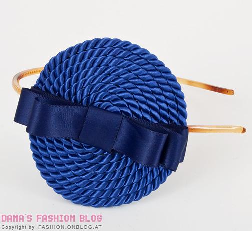 Decorar uma tiara de cabelo com cetim e corda é muito fácil (Foto: fashion.onblog.at)