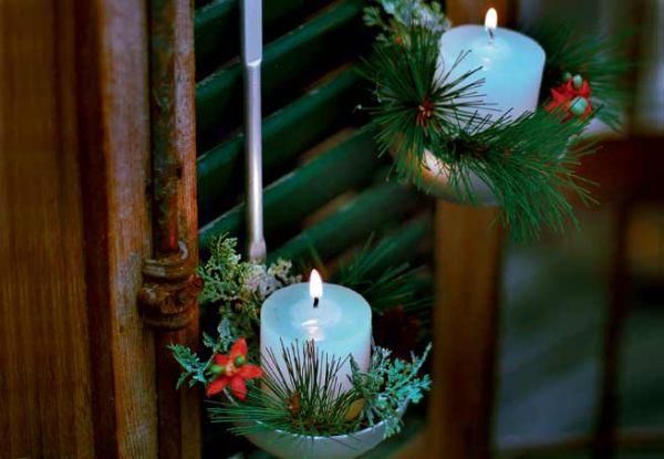 Há algumas ideias de decoração baratas para festa de Natal feitas com reciclagem (Foto: revistacasaejardim.globo.com)
