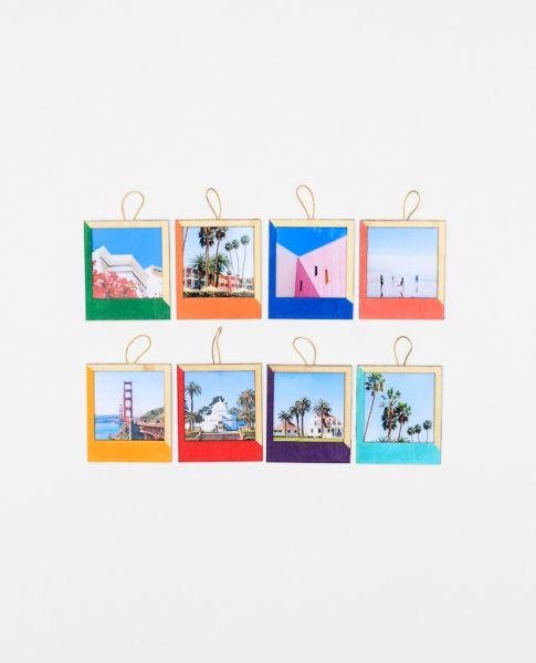 Este porta-retrato para pendurar pode ter as cores que você desejar (Foto: thecraftedlife.com)