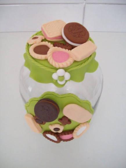 Potes com Biscuit para Cozinha
