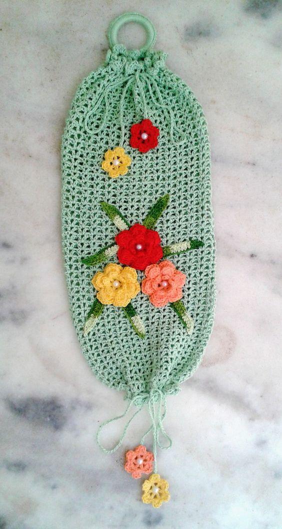 Puxa-Saco de Crochê para Ganhar Dinheiro