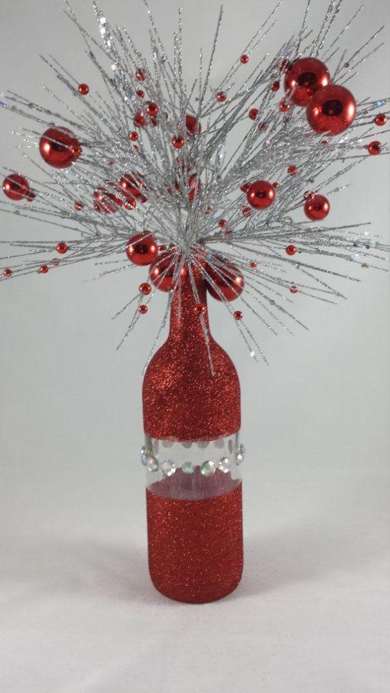 Dicas de Enfeites de Natal com Garrafas de Vidro