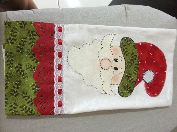 Dicas de Pano de Prato de Natal com Patchwork