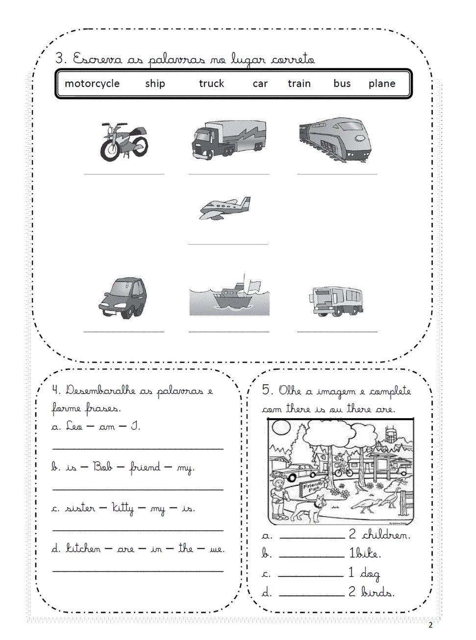 Dicas de Exercícios de Inglês para Imprimir para Ensino Fundamental