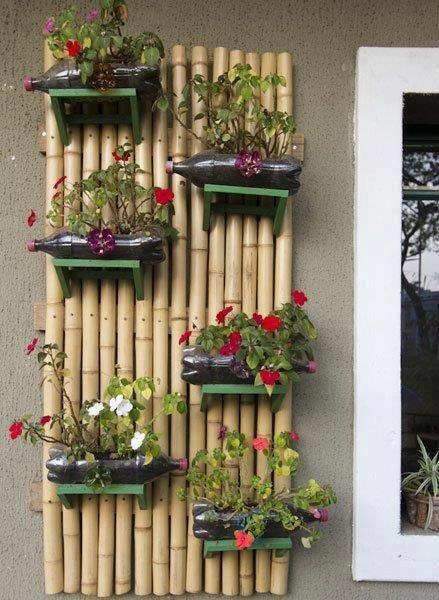 Artesanato com bambu para plantas