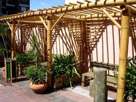 artesanato de bambu para jardim exemplos