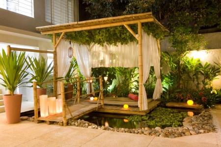 artesanato de bambu para jardim ideias