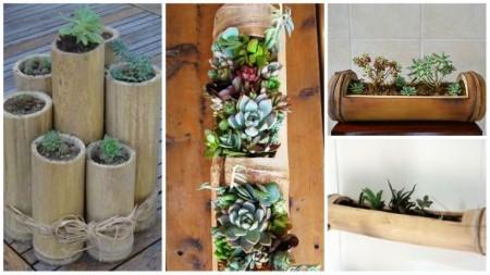 exemplos de artesanato de bambu para jardim