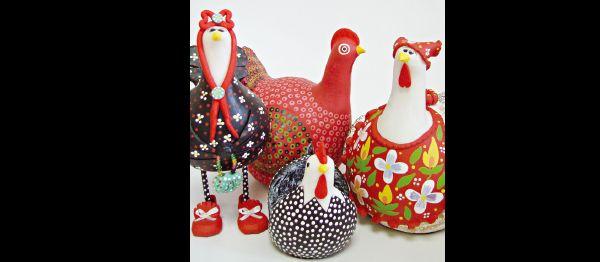 galinhas de papietagem
