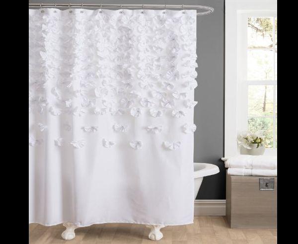 cortina de tecido com apliques