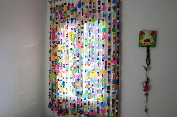 cortina colorida