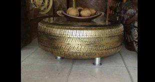 mesa de pneu metalizado
