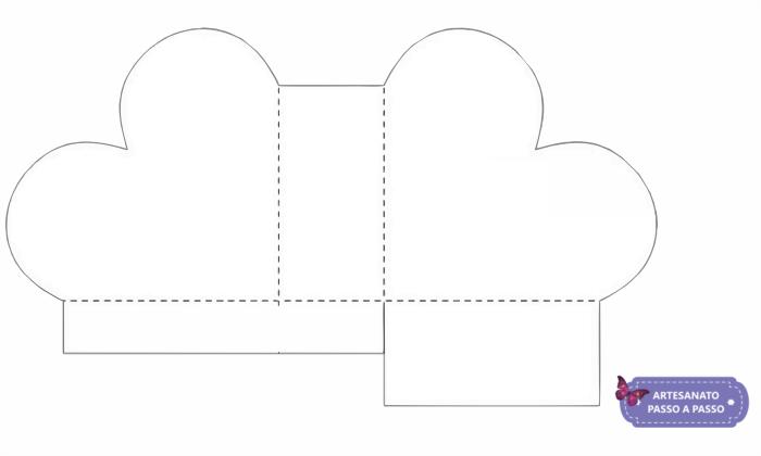 molde de coração para fazer caixa