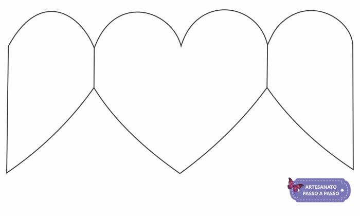 molde de coração aberto