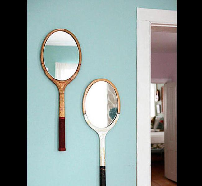 molduras de espelho com raquete