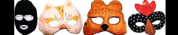 máscaras com papietagem