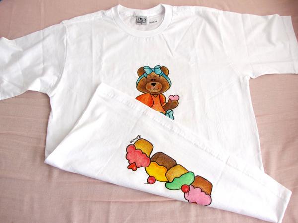camiseta com doce